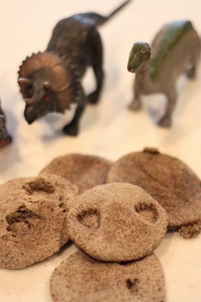 dino footprint cookies