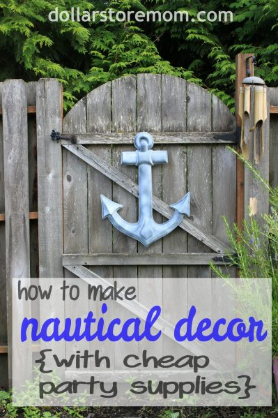 Make Cheap Nautical Garden Decor