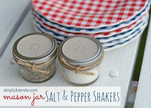 Make Mason Jar Salt and Pepper Shakers
