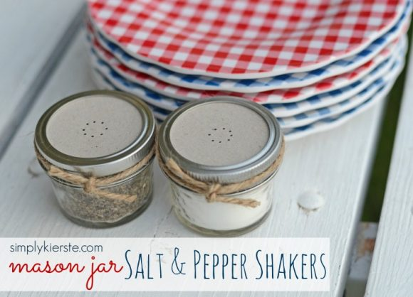 Make Mason Jar Salt and Pepper Shakers