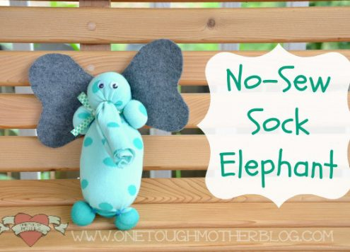 No Sew Sock Elephant