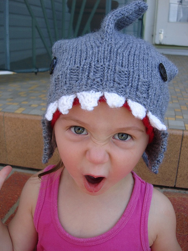 Knit A Shark Attack Hat 187 Dollar Store Crafts