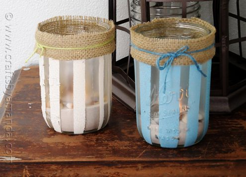 Make Beachy Mason Jar Luminaries