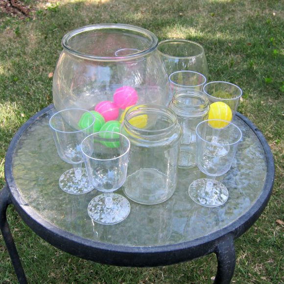 Create your own carnival with dollar store items dollar for Plastic fish bowls dollar tree