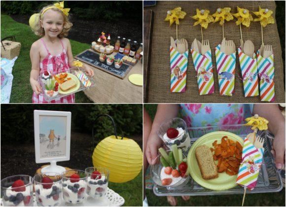Hundred Acre Wood Picnic Food Collage