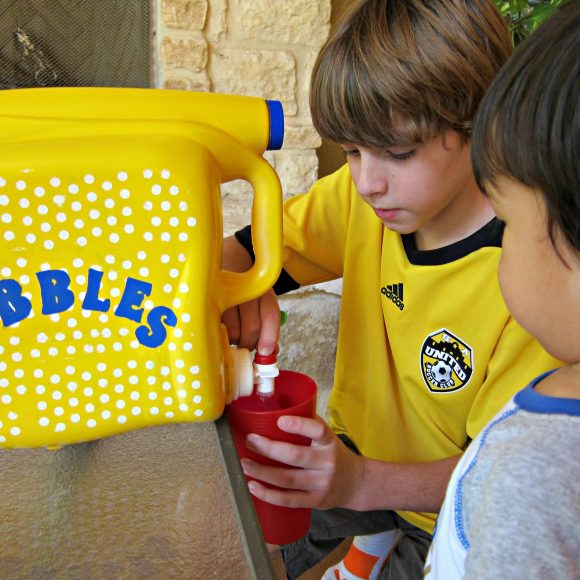 Make your own bubble dispenser