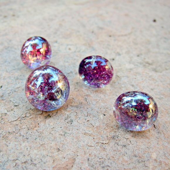 Ombre Glitter Glass Push Pins