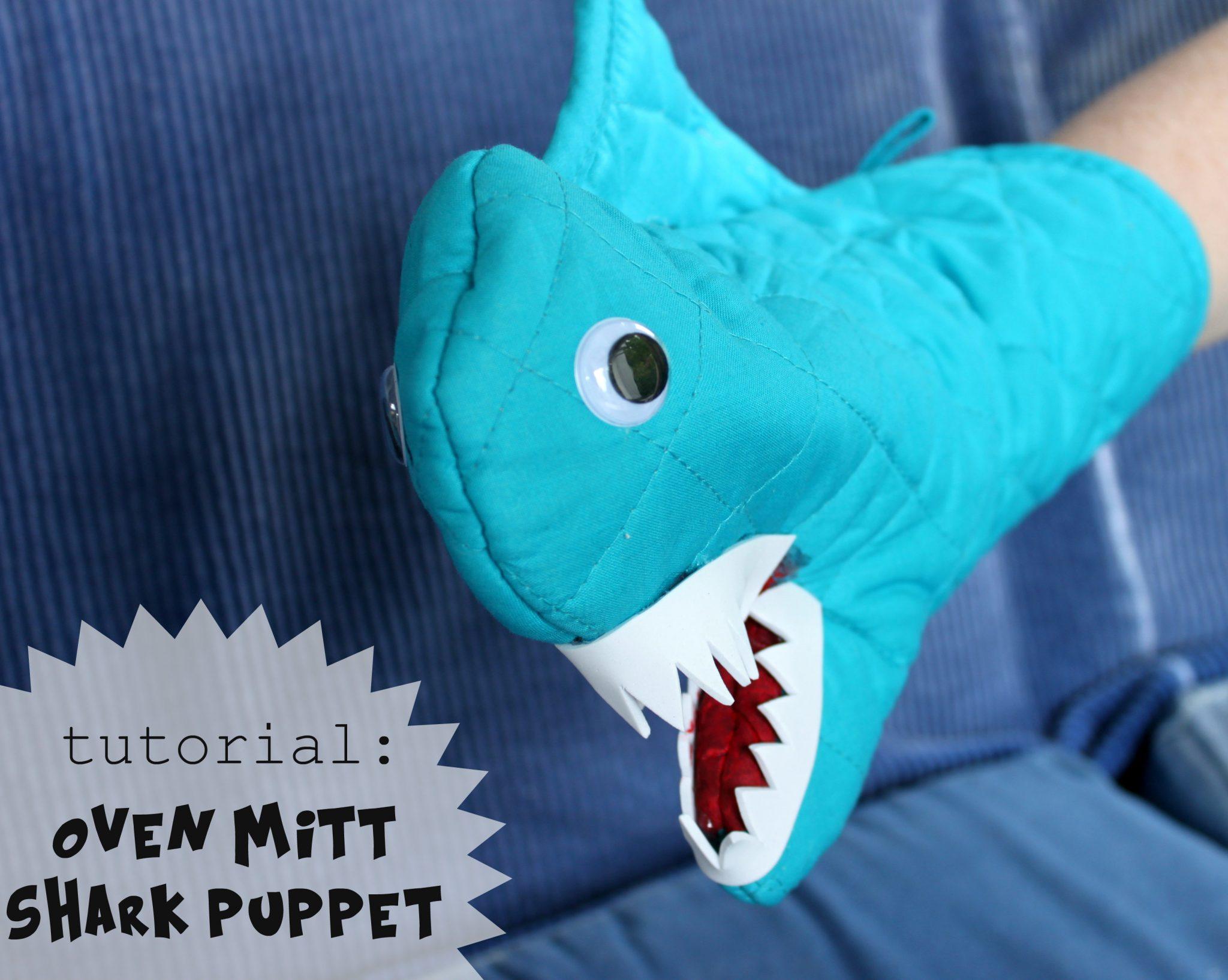 Tutorial Oven Mitt Shark Puppet Dollar Store Crafts