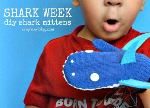 martha stewart kids crafts shark mittens