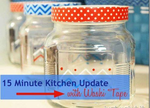 Make Washi Tape Kitchen Jars