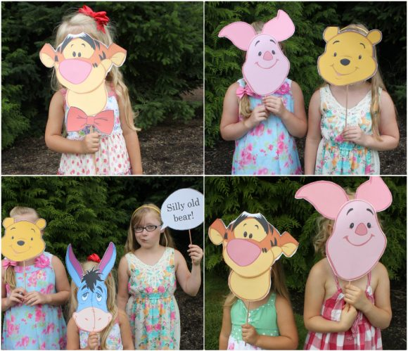 Winnie the Pooh Character Collage