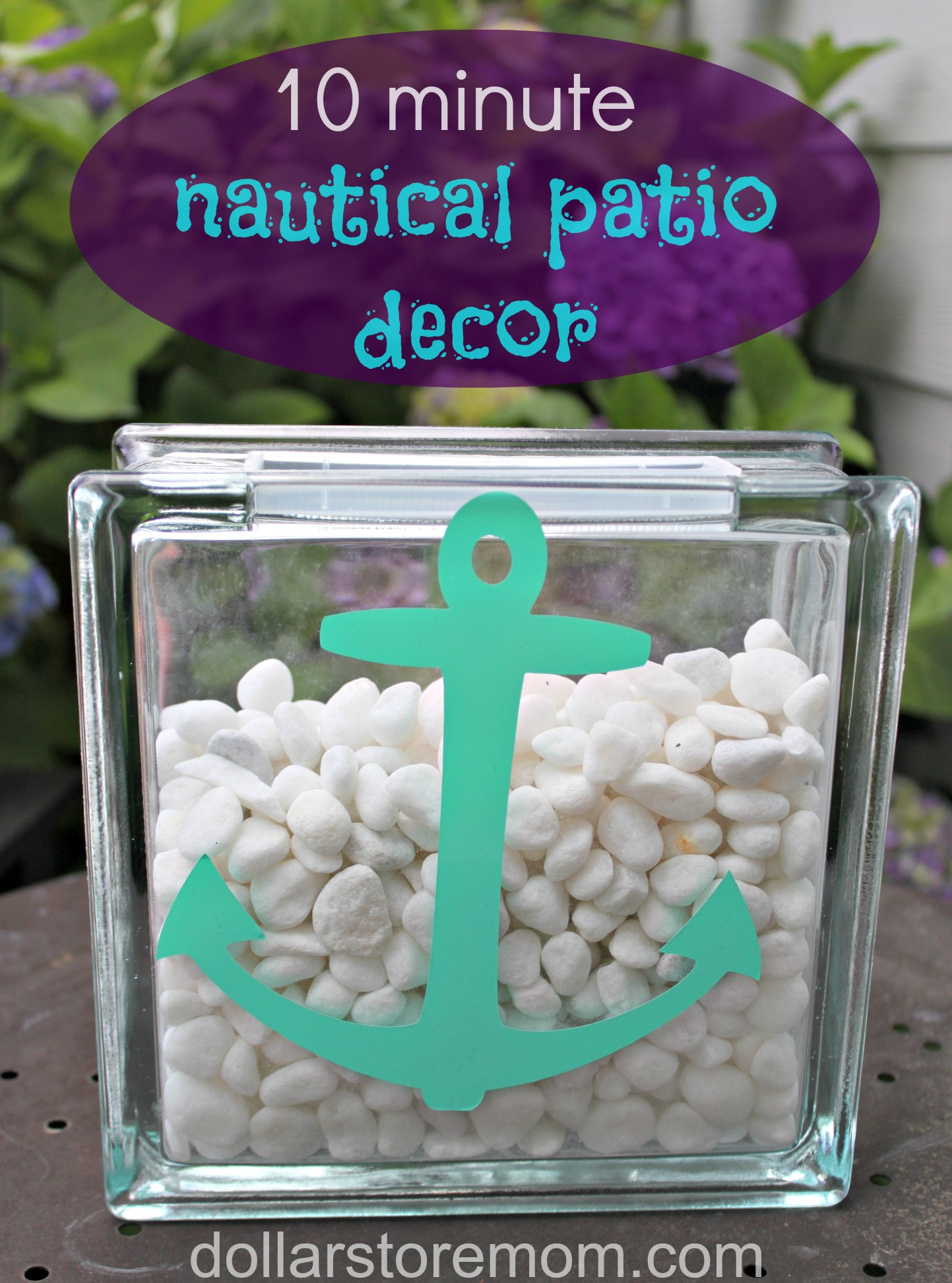 Making A Patio With Stones: Make A Nautical Patio Vase » Dollar Store Crafts