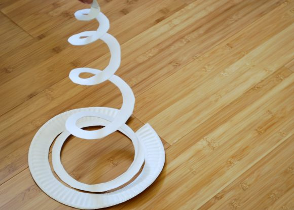 paper plate spiral
