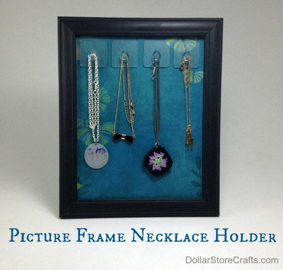 picture frame necklace holder