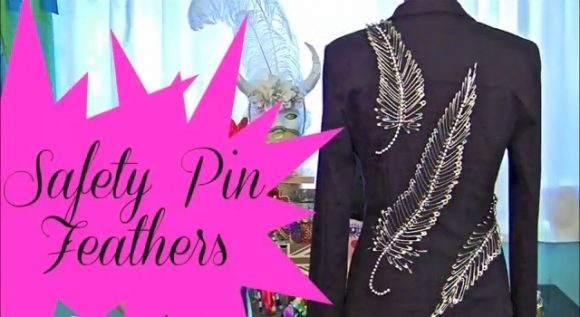 Safety Pin Feathers