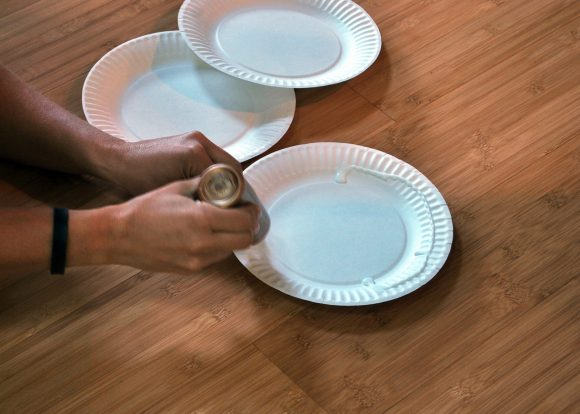glue together paper plates