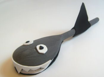 Make a Wooden Spoon Shark