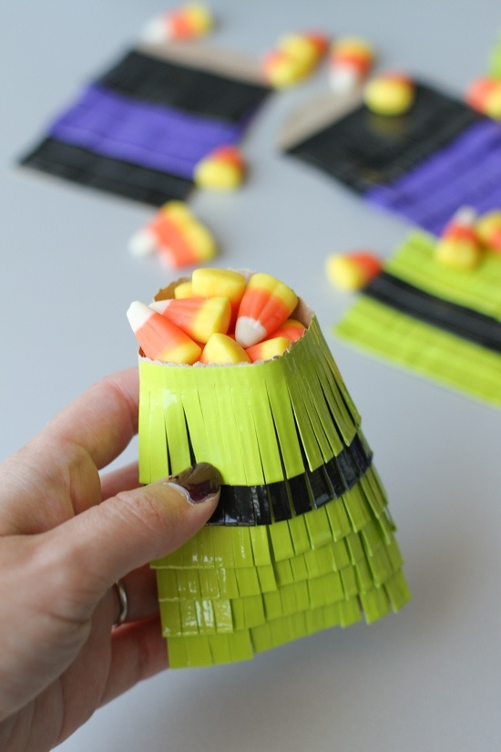 Make Duct Tape Halloween Treat Bags