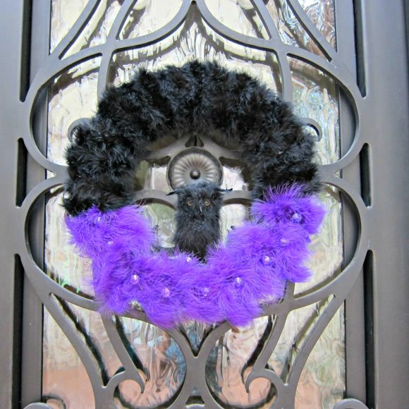 DIY Halloween Wreath with Owl
