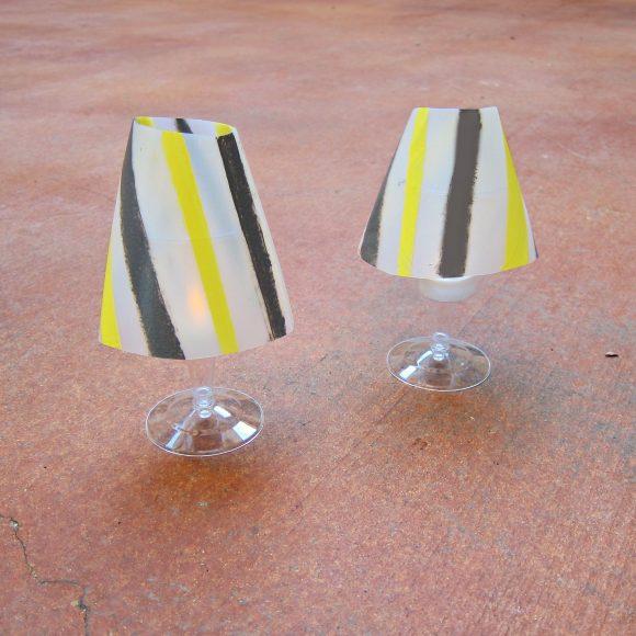 DIY Milk Jug Tea Lights