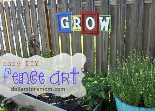 Make Easy DIY Fence Art