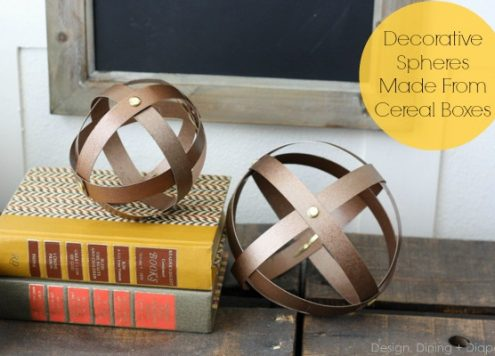 Make Recycled Faux Metal Spheres