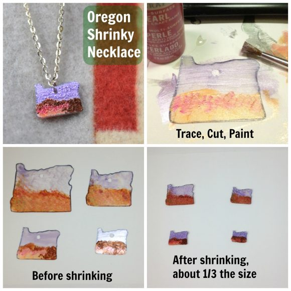 How to make a painted shrinky plastic necklace
