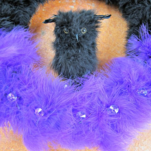 Owl Halloween Wreath DIY