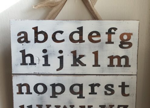 Alphabet Pallet Art