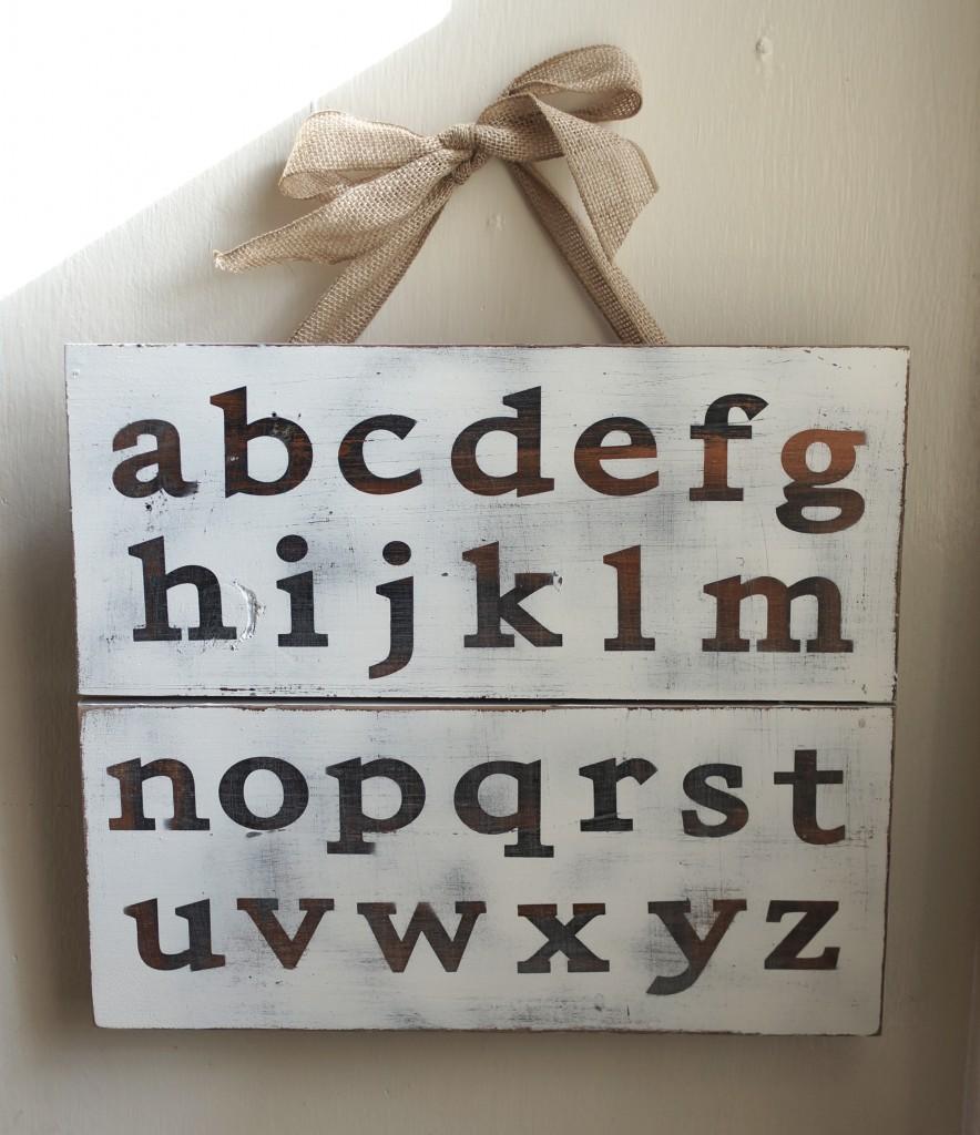 Make Alphabet Pallet Art