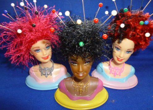 Barbie Head Pin Cushions