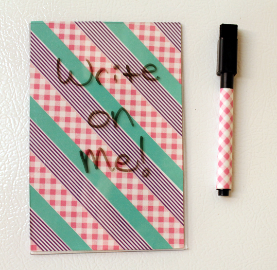 make a dry erase board from a picture frame