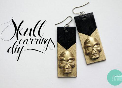 Make Glam Skull Earrings