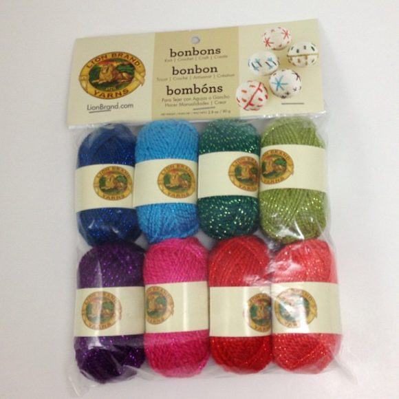 These are so cute! Lion Brand Yarn Bon-Bons -- tiny little yarns!