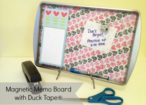 Duct Tape Magnetic Memo Board