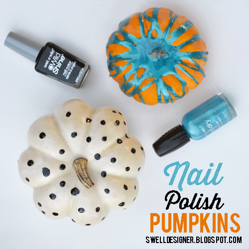 Paint Pumpkins with Nail Polish