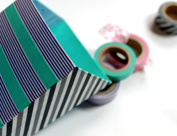 washi tape magnetic pen holder