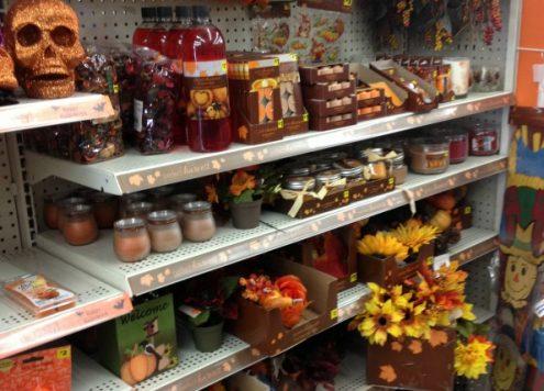 fall decor shopping at Dollar General