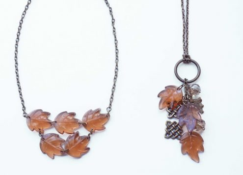 fall leaf necklaces