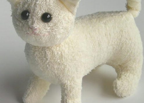 Make a terrycloth stuffed cat