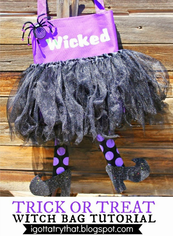Make A Wicked Witch Trick Or Treat Bag 187 Dollar Store Crafts