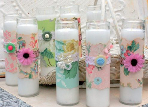 Make Wallpaper Wrapped Candles