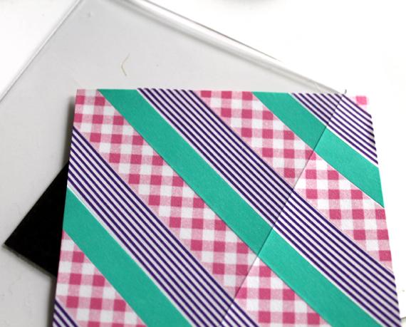 washi tape magnetic board
