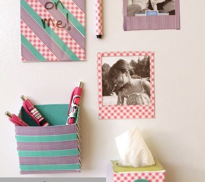 washi tape fridge magnetic organizers