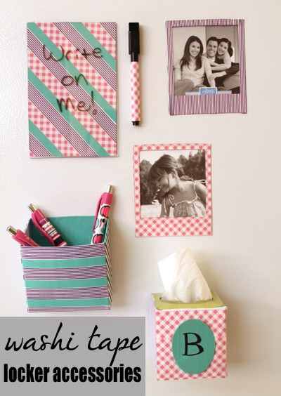 washi tape fridge magnetic organizers