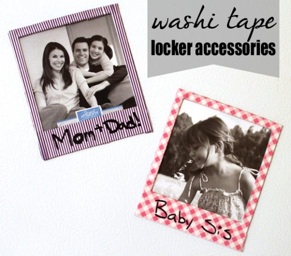 washi tape polaroid frames