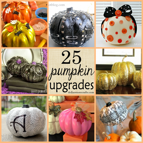 Creative ways to upgrade foam pumpkins dollar store