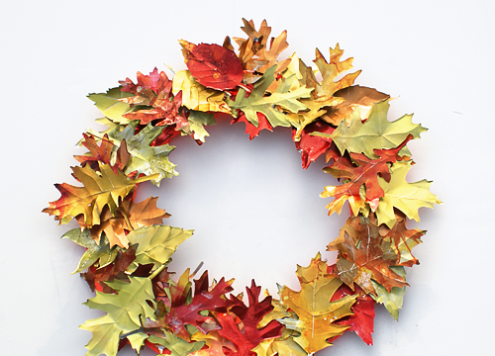 Aluminum Can Leaf Wreath