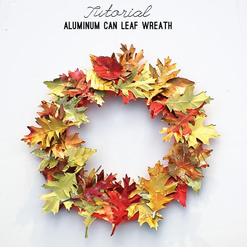 Aluminum Can Leaf Wreath