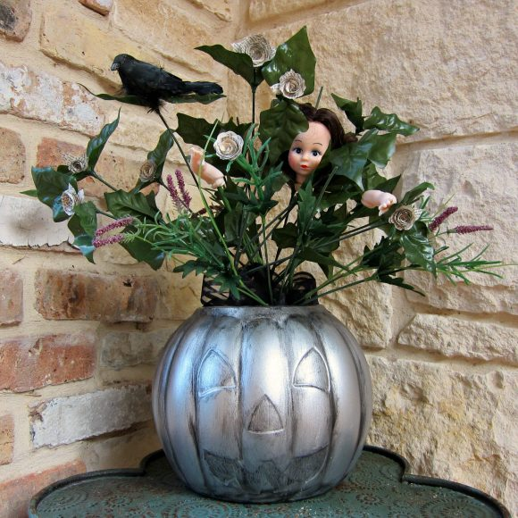 Dollar Store Pumpkin Centerpiece DIY